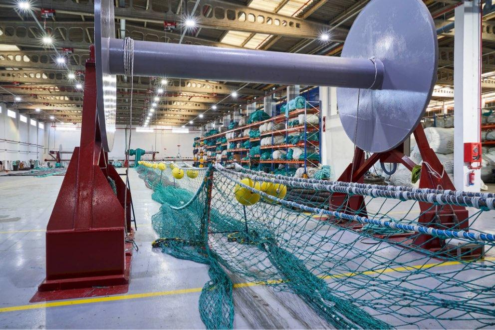 Preparación de aparejo en las instalaciones de Eurored